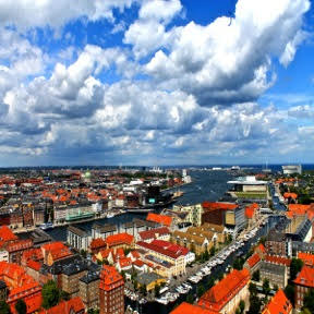 An unparalleled view of Copenhagen from atop Vor Frelsers Kirke.